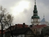 Bytom Odrzański. Widok na wieżę ratusza.