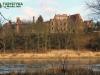 Panorama na zamek Carolath w Siedlisku