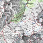 Mapa, Alpy Julijskie, dolina Vrata