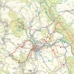 Mapa Kočičí skály i Broumovské stěny
