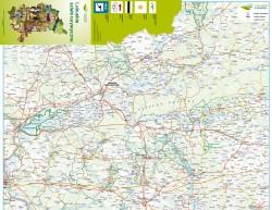 Mapa szlaków województwa lubuskiego